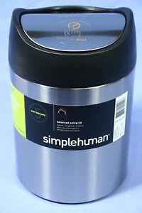 Simplehuman-1-5L-Trash-Can-Garbage-Countertop-CW1637CB