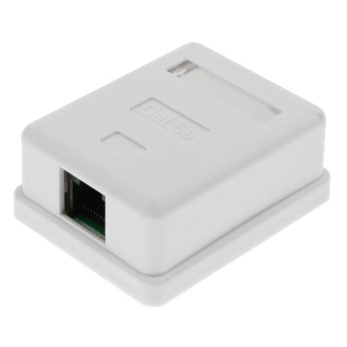 4x Premium RJ-45 Ethernet Surface Mount Box Cat5e 8P8C 1 Port Keystone Jack