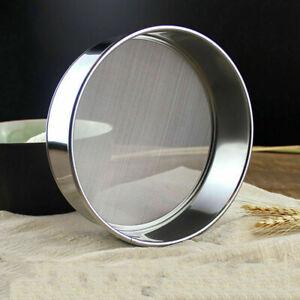 Stainless Steel Flour Sieve Kitchen Fine Mesh Oil Strainer Sifter Sugar-Filter