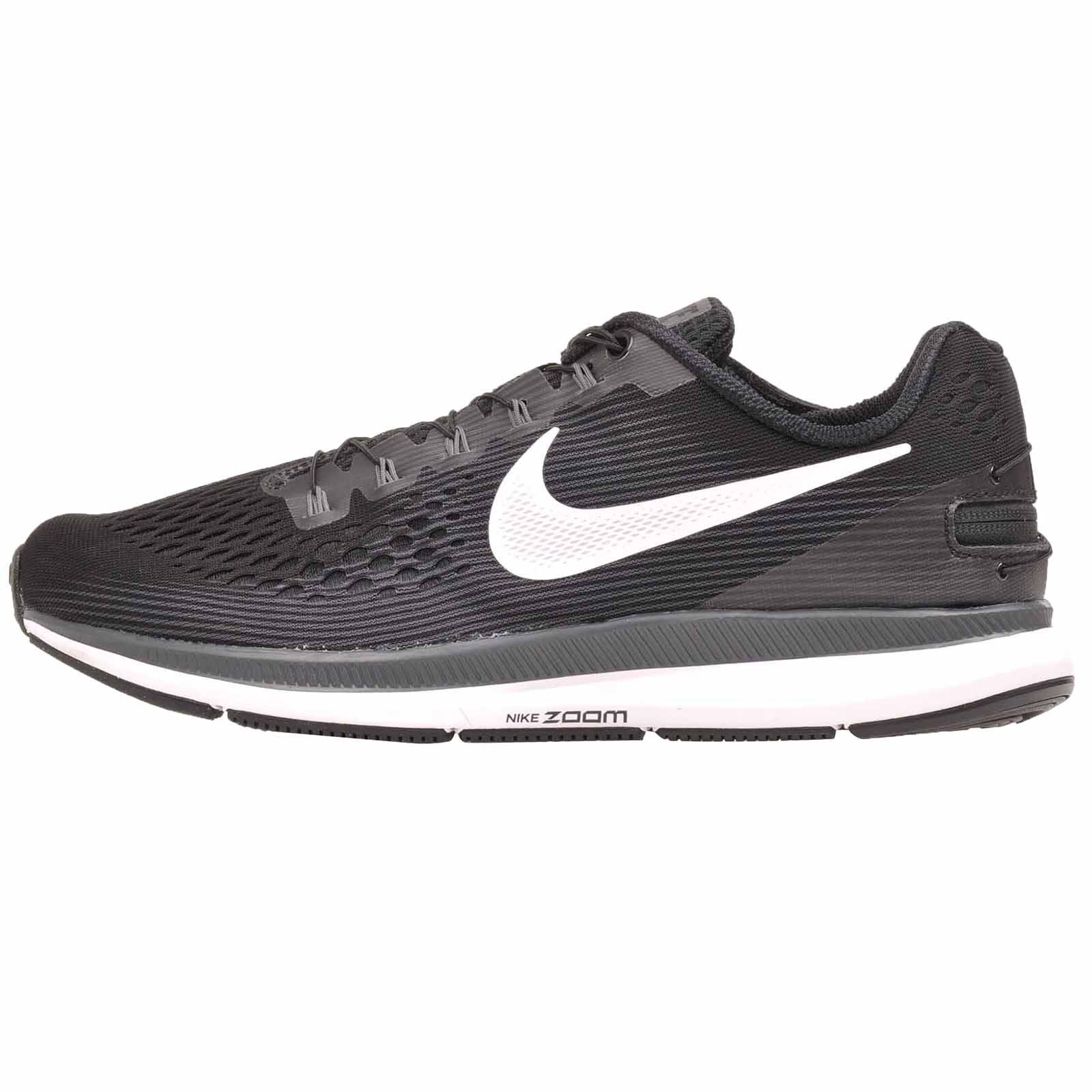 Nike Zoom Pegasus 34 Flyease Running Mens Shoes Black Black Black White Grey 904678-001 4280e6