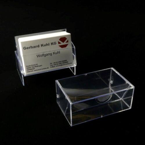 2500002 50 x Visitenkartenbox Aufsteller Ständer Querformat zum Stellen NEU
