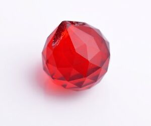 20mm-Red-Faceted-Crystal-Glass-Chandelier-Lamp-Prisms-Hanging-Drops-Pendant