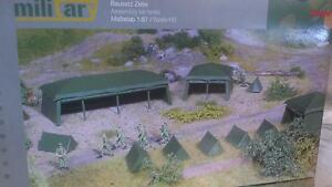 Herpa-Military-745826-Assembly-Kit-Tents-7-pieces-1-87-HO-Scale