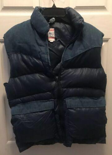 Vintage FROSTLINE Puffer Vest  Denim Blue Men's La