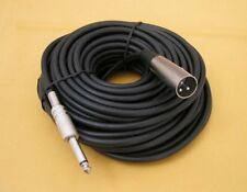 "100FT PREMIUM XLR 3-Pin MALE to 1/4"" MONO Plug Mic Microphone Audio Cable Cord"
