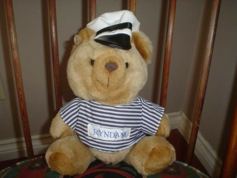 Ryndam Florida Cruise Ship Jointed Bear Collectible 12 inch