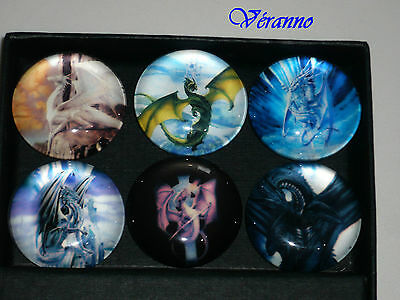 Aggressivo 6 Magnets Dragon En Verre.