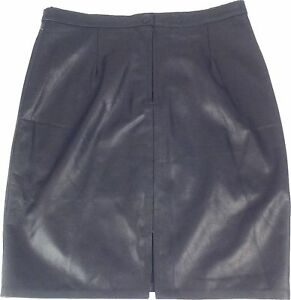 37839f44f Image is loading UNICORN-LONDON-Womens-Real-Leather-Skirt-Black-BRAND-