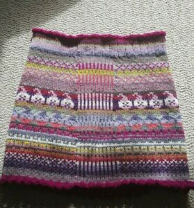 Hobo-womens-skirt-mini-size-large-wool-blend