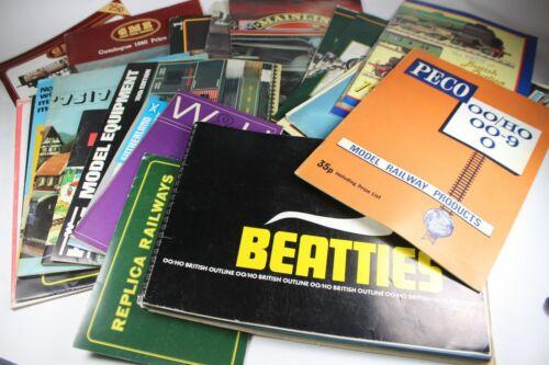 VINTAGE Model Railway Catalogues 1960s//70s//80s SELECTION PECO BEATTIES FALLER et