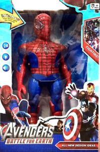 Spiderman-Action-Figure-Walking-with-Flashing-Light-amp-Sound-26cm