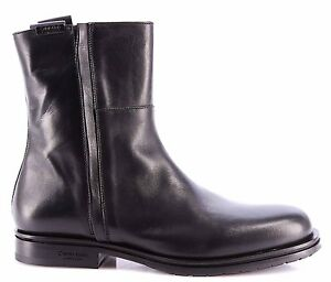 Bottines Chaussures Calf Klein Calvin Hommes Nero 1001 Collection dfw1CfqxBr