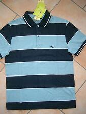 (H877) Leichtes Etro Milano Boys Polo Shirt glatte BW mit Logo Stickerei gr.152