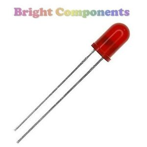 50 x Red 1.8mm LED Diffused 100mcd 50°