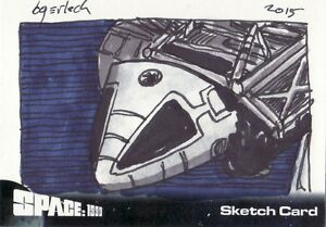SPACE-1999-Bruce-Gerlach-Eagle-Transporter-Sketch-Card-Unstoppable-Cards