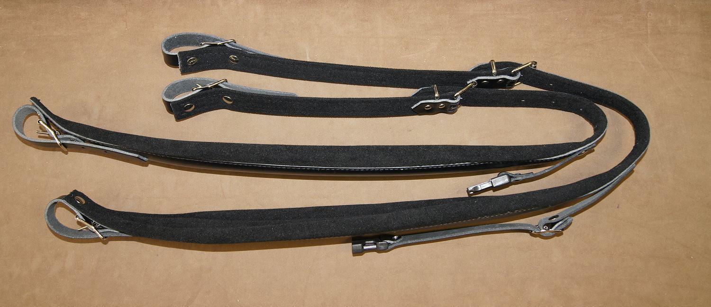 Paire de courroies bretelles cuir + rembourrage 8 cm pour accordéon chromatique
