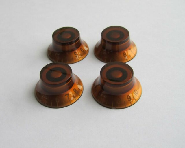 4x LP Amber Guitar Knobs Top Hat Knobs Bell Knobs Fits Les Paul