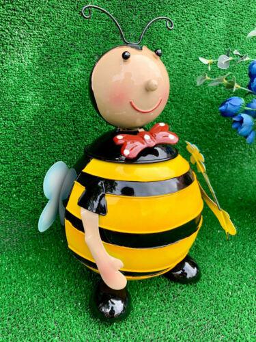 Bumble BEE LADYBUG PER BAMBINI GIOCATTOLO GIOCO Craft scatole di cestini per rifiuti in metallo