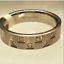 thumbnail 2 - Men's Stainless Steel Band Ring Cubic Zirconia  Sizes 12 13
