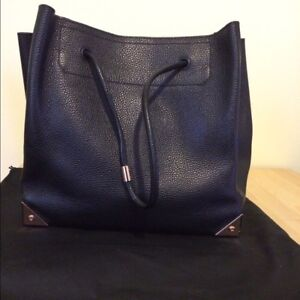 24dd6004db98 Alexander Wang large Prisma tote in black pebbled leather and Rose ...