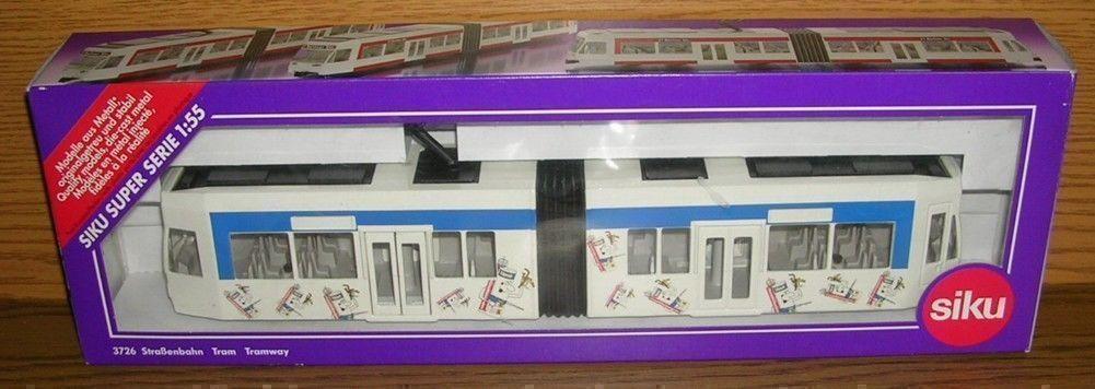 Modèle siku super série 1 55 3726 tramway tram en OVP upat publicitaires modèle