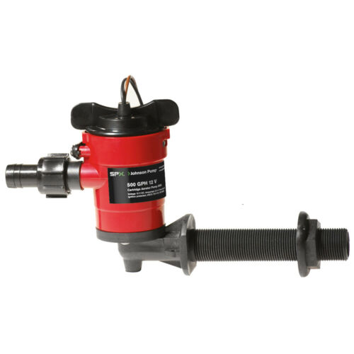 Johnson Pump 38503 Cartridge Aerator 500 Gph 90� Intake 12V