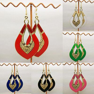 New Women Drop Earrings Gold Plated Enamel Fashion Hook Dangle Earrings Jewelry