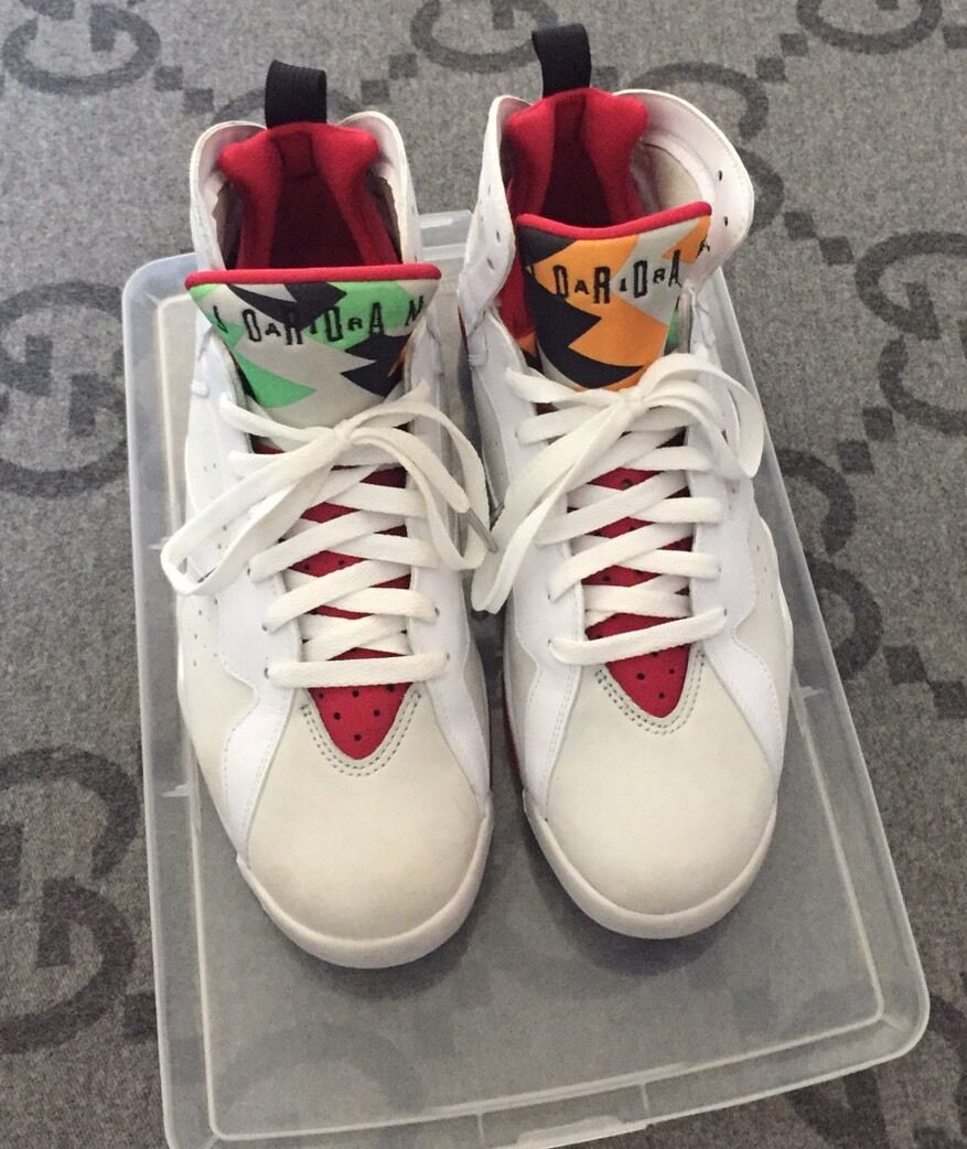 100% Authentic Air Jordan 7 Hare 2018 countdown package half box size 9.5