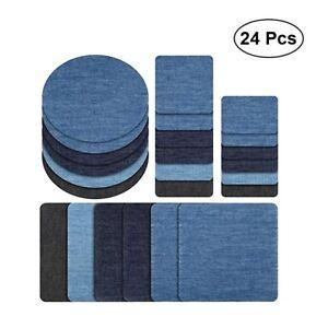 24x Baumwolle Reparatur Patches Jeansflicken Selbstklebend