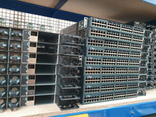Cisco Catalyst 3560x WS-C3560X-48PF-L 48 Port Gigabit PoE Commutateur L3 1100 W Alimentation