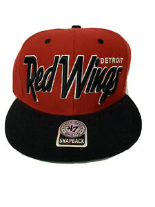 Detroit Red Wings Red Snapback Hat NWT NHL Hockey 47 Brand Hat