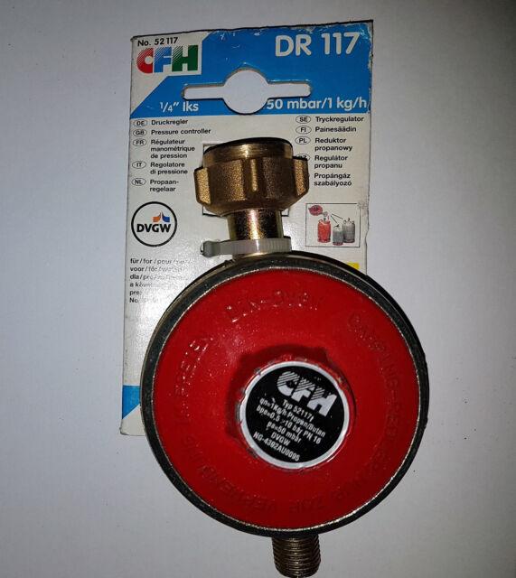 CFH Druckregler 1/4´´  DR117 50 mbar Propanregler Druckminderer Regler Gasregler