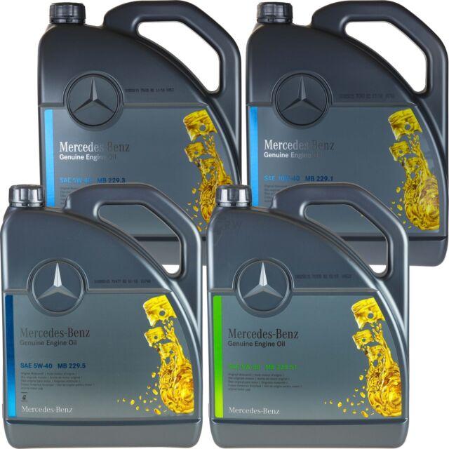Mercedes Benz Motoröl Motorenöl 10W40 5W40 5W30 229.51 229.5 229.3 229.1 5L-25L