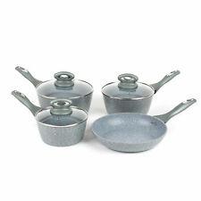 Salter BW04151G1AR Marble Forged Aluminium Non-Stick Saucepan and Fry Pan Set