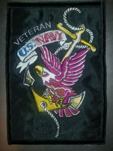 """/""""Veteran US NAVY/"""" Military Iron On//Sew On Patch       10142"""