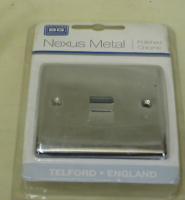 BG Nexus Metal Polished Chrome 1 Gang Master Telephone Socket NPCBTM1 Mirror