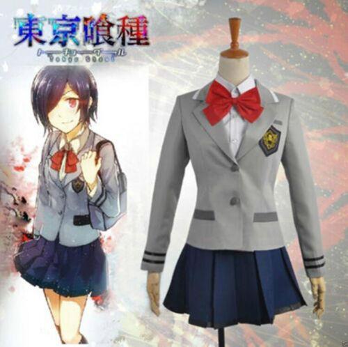Tokyo Ghoul Touka Kirishima Uniform Cosplay party Costume dress