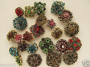 Vintage pins cascade crystal