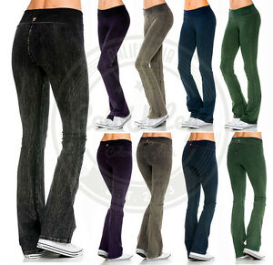 d3130b9a312da New Women T-PARTY Mineral Wash Yoga Pants THICK COTTON Casual Lounge ...