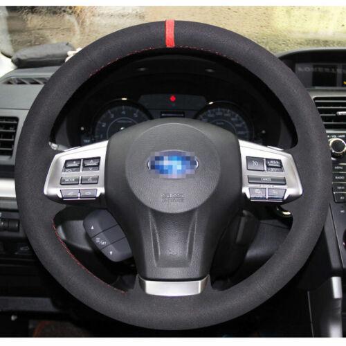 DIY Steering Wheel Cover for Subaru Forester XV Impreza 2014 2015 2016 Outback