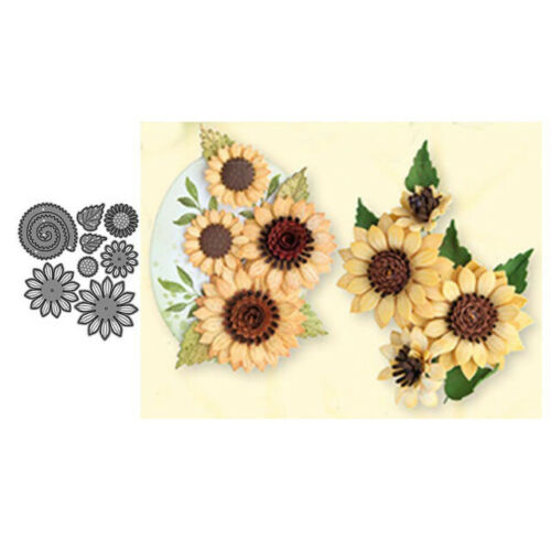 Life Sunflower Shaped Cutting Dies Metal Template Die For Scrapbooking Stencil
