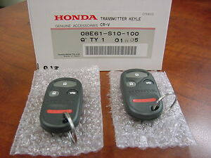 geuine oem   honda crv keyless entry remotefob kit  pieces ebay