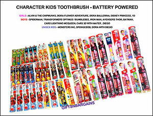 Kids-Marvel-Disney-Nick-Jr-Power-Battery-Toothbrushes-Various-Kids-Characters