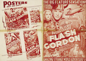Flash-Gordon-1936-Larry-Buster-Crabbe-cult-serial-movie-poster-print-4