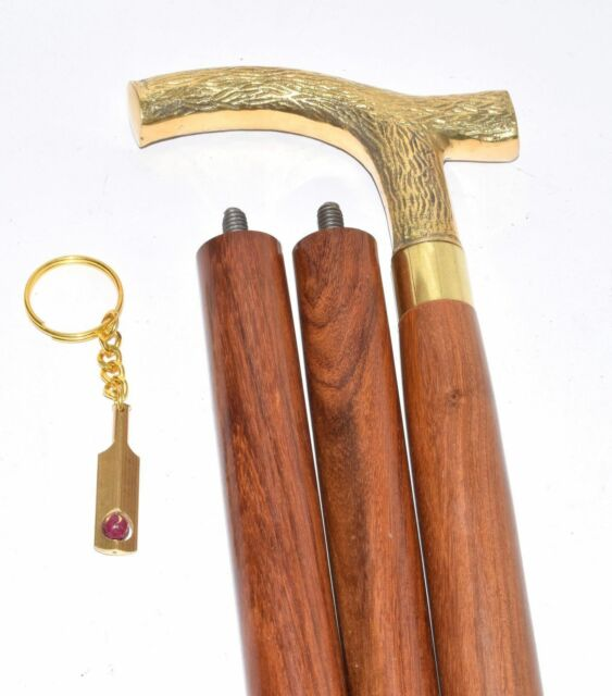 Helloween Walking Stick Vintage Style Handle Designer Wooden Cane