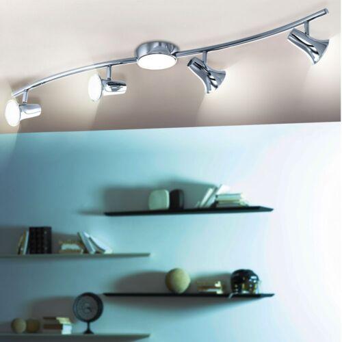 12 Watt LED Decken Strahler silber Gästezimmer Leuchte Spots schwenkbar 4-flg