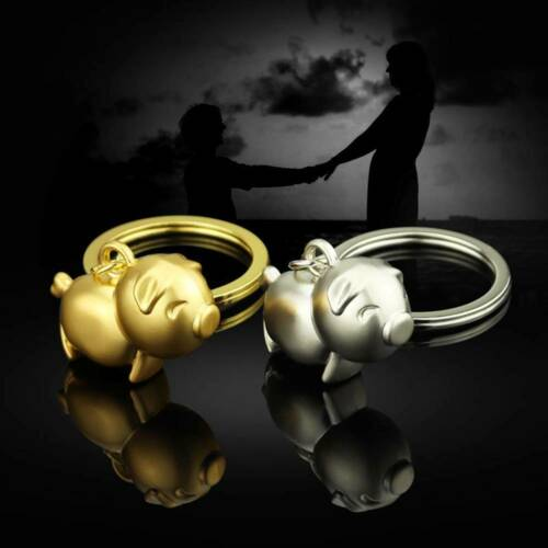 Couple Gifts Cute Small Pig Mascot Metal Hanging Ornament Keychain Keyring US o