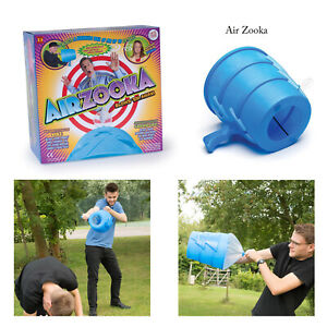 Funtime-Kids-Children-Adults-Blue-Zooka-Fun-Air-Blaster-Cannon-Launcher-Game-Toy