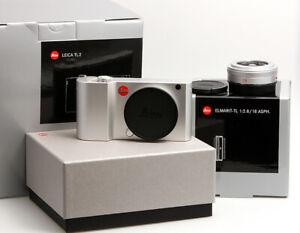 Leica-TL2-silbern-eloxiert-Set-mit-Elmarit-TL-1-2-8-18mm-silbern-eloxiert-OVP