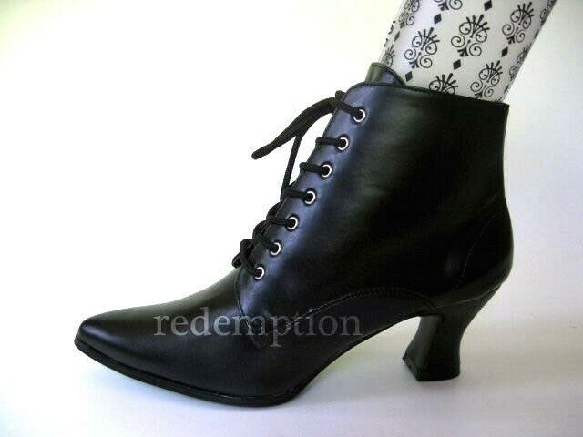 Victorian Granny Witch Goth BOOTS